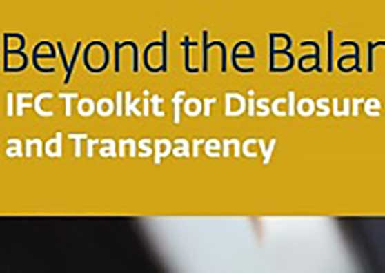 IFC Unveils New Toolkit to Improve Companies' Disclosure and Transparency