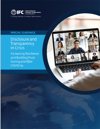 Special Guidance: Disclosure and Transparency in Crisis - Increasing Resilience and Building Trust During and After COVID-19