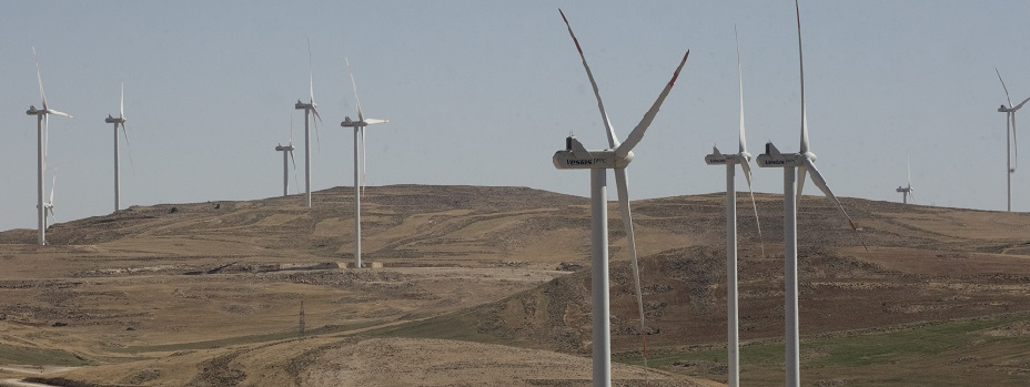 Tafila Wind Farm in Tafilah, Jordan on May 22, 2017