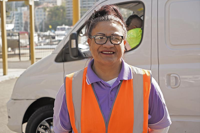 'Ofa Taufa sends remittances to her niece, Mele Fifita Siu. 'Ofa runs a courier business delivering medicines to hospitals in Sydney.