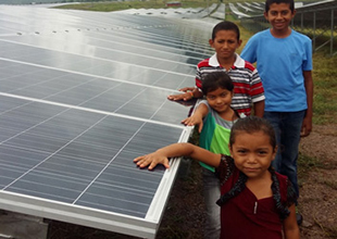 A Solar Plant Lights up a Community in Honduras