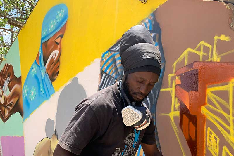 "Docta, whose real name is Amadou Lamine Ngom, has been called the ""pioneer of graffiti art"" in Senegal."