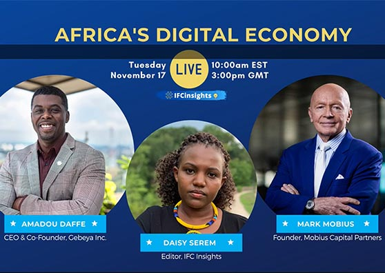 Banner: IFC Insights live chat on Africa's digital economy