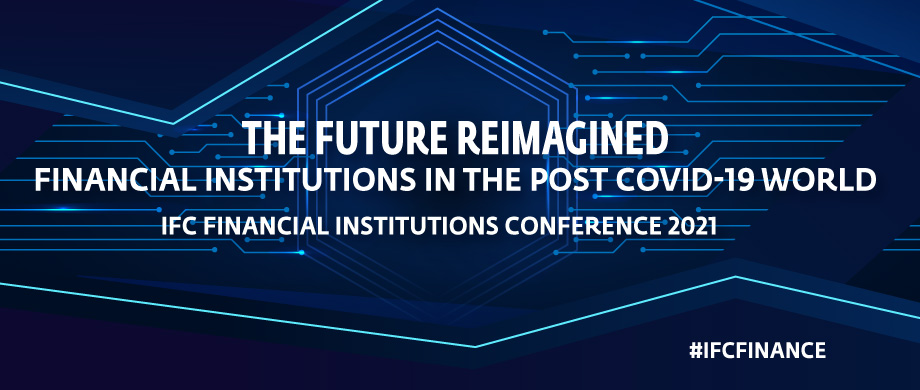Postcard w-Title of Financial Institutions Annual Conference for 2021 - The Future Reimagined