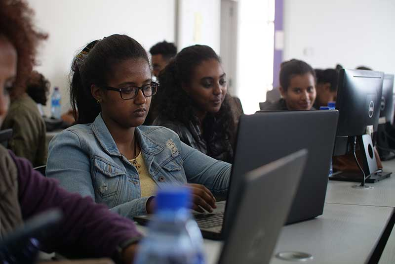 Image: Sixty women in the first cohort of a digital gender-related program in Ethiopia received their diplomas from Gebeya in November.