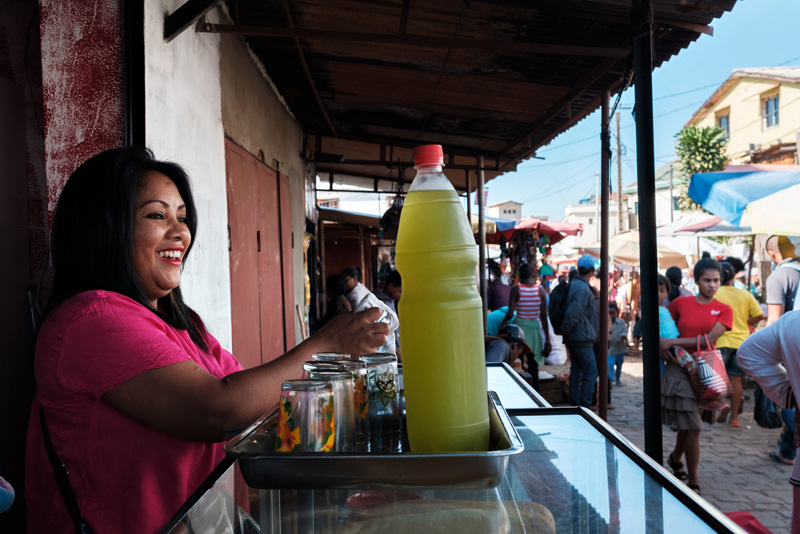 Baobab Bank client Voahirana Mamy Ravelonoro at her restaurant in Antananarivo.