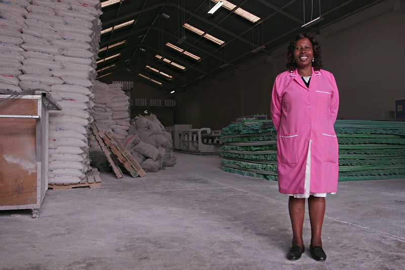 Mercy Kimani is the founder of Peakplast Limited. Her family businesses now employ 200 people.