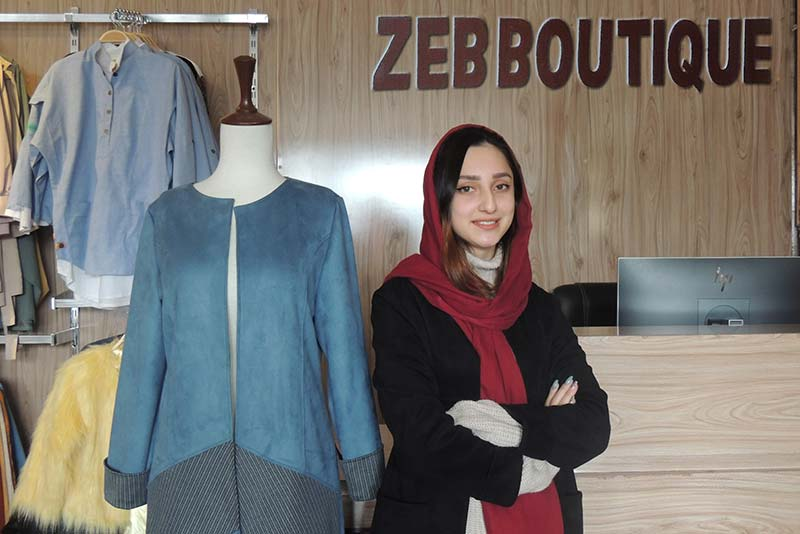 Selsela Nihan at her business, Zeb Boutique.